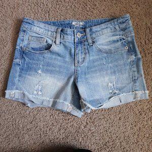 Mossimo Supply Co Juniors Denim Midi Shorts